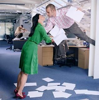 pareja en el trabajo