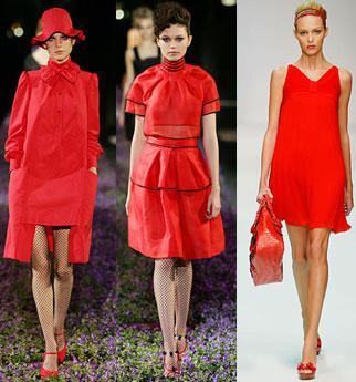rojo vestimenta