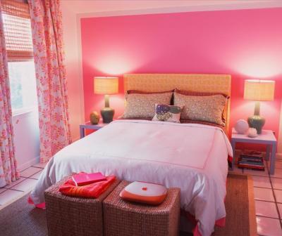 cuarto en rosa