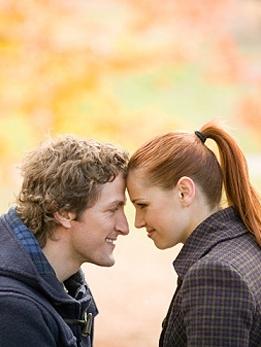 pareja otoño