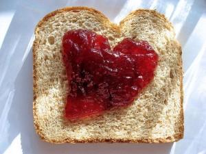 Jelly sandwich heart